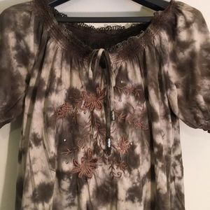 RXB blouse shirt camo embroidered